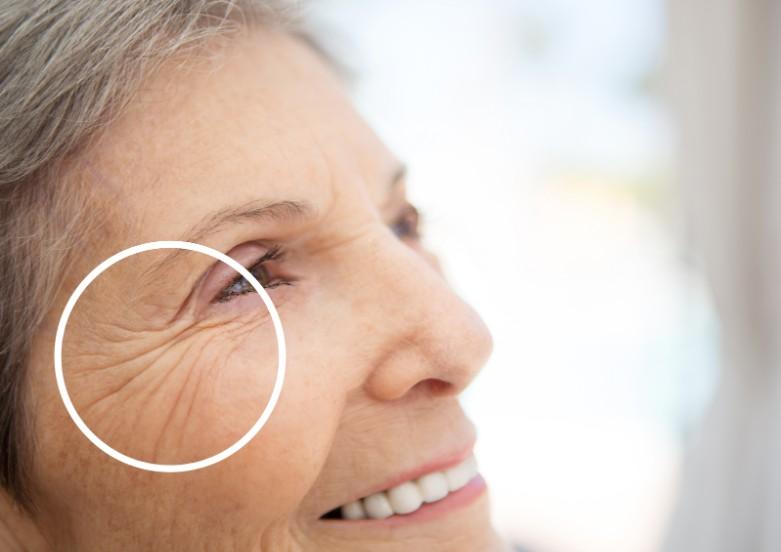 Mature Elderly Woman Smiling